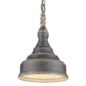 Keating Antique Black Iron One-Light Mini Pendant